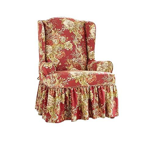 Stupendous Amazon Com Sure Fit Ballad Bouquet By Waverly Slipcover Inzonedesignstudio Interior Chair Design Inzonedesignstudiocom