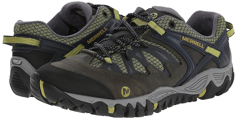 0c77ee27abb Merrell Allout Blaze Messieurs de Trekking   Chaussures Basses de randonnée  - Vert - Grün (Moss Navy)