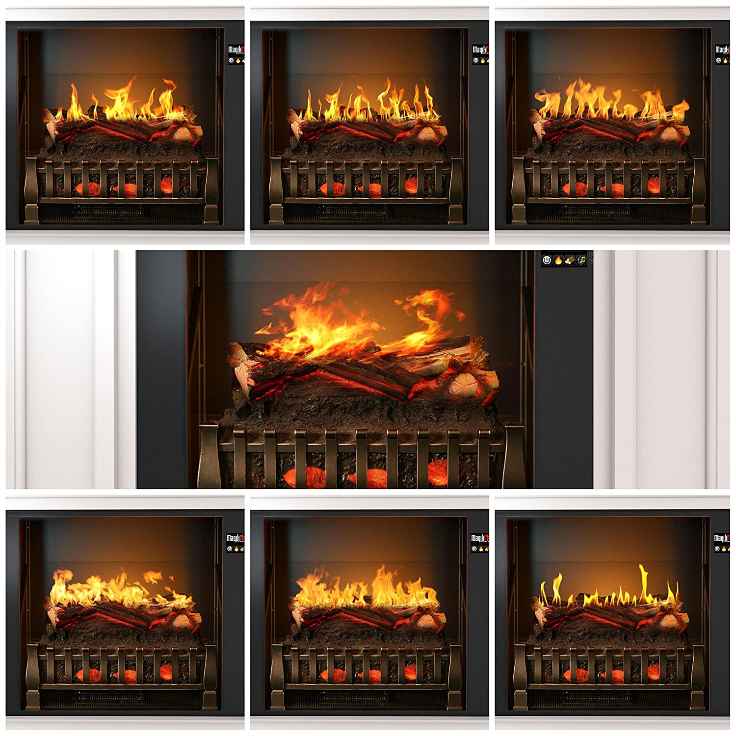 amazon com most realistic electric fireplace on amazon 26 flames