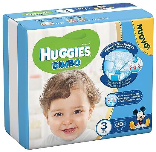 112 opinioni per HUGGIES BIMBO 3 20PZ MIDI 4/9KG