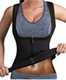 GAODI Women Waist Trainer Vest Slim Corset Neoprene Sauna Tank Top Zipper Weight Loss Body Shaper Shirt