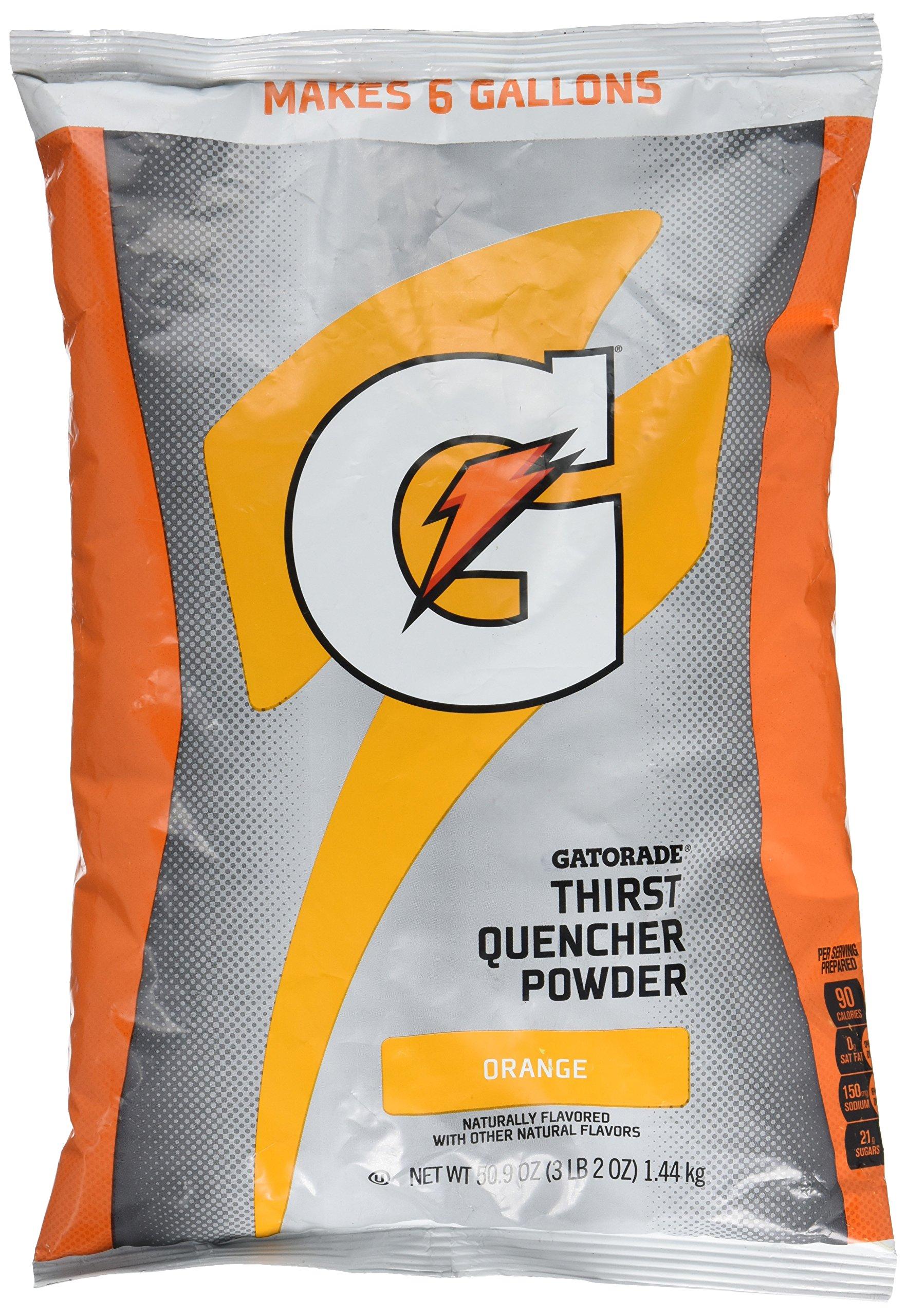Gatorade Orange Thirst Quencher Powder Mix 51oz Packet Makes 6 Gallons
