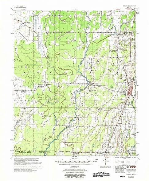 Amazon.com: Arkansas Maps | 1957 Eudora, AR USGS Historical ...