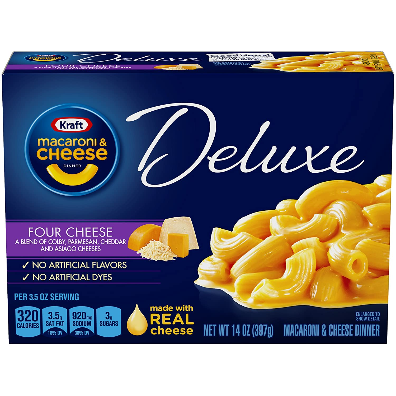 Kraft Deluxe Four Cheese Macaroni & Cheese Dinner (14 oz Box)