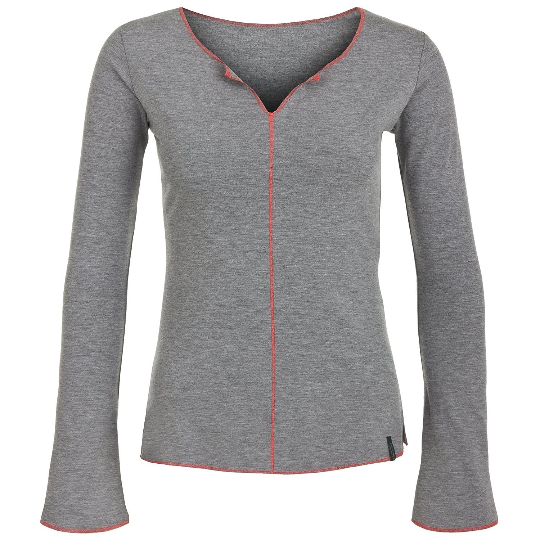 Langarm Yoga Shirt grau, DEVI LONGSLEEVE von hut und berg balance