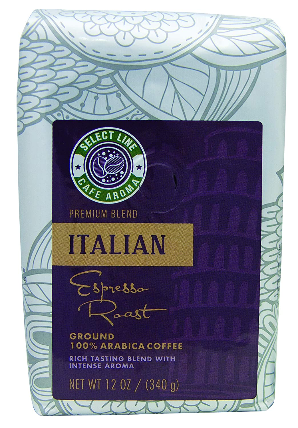 Bold Italian Roast Ground Coffee - 12 oz Bag, from Aroma Select, Premium, Gourmet Ground Coffee