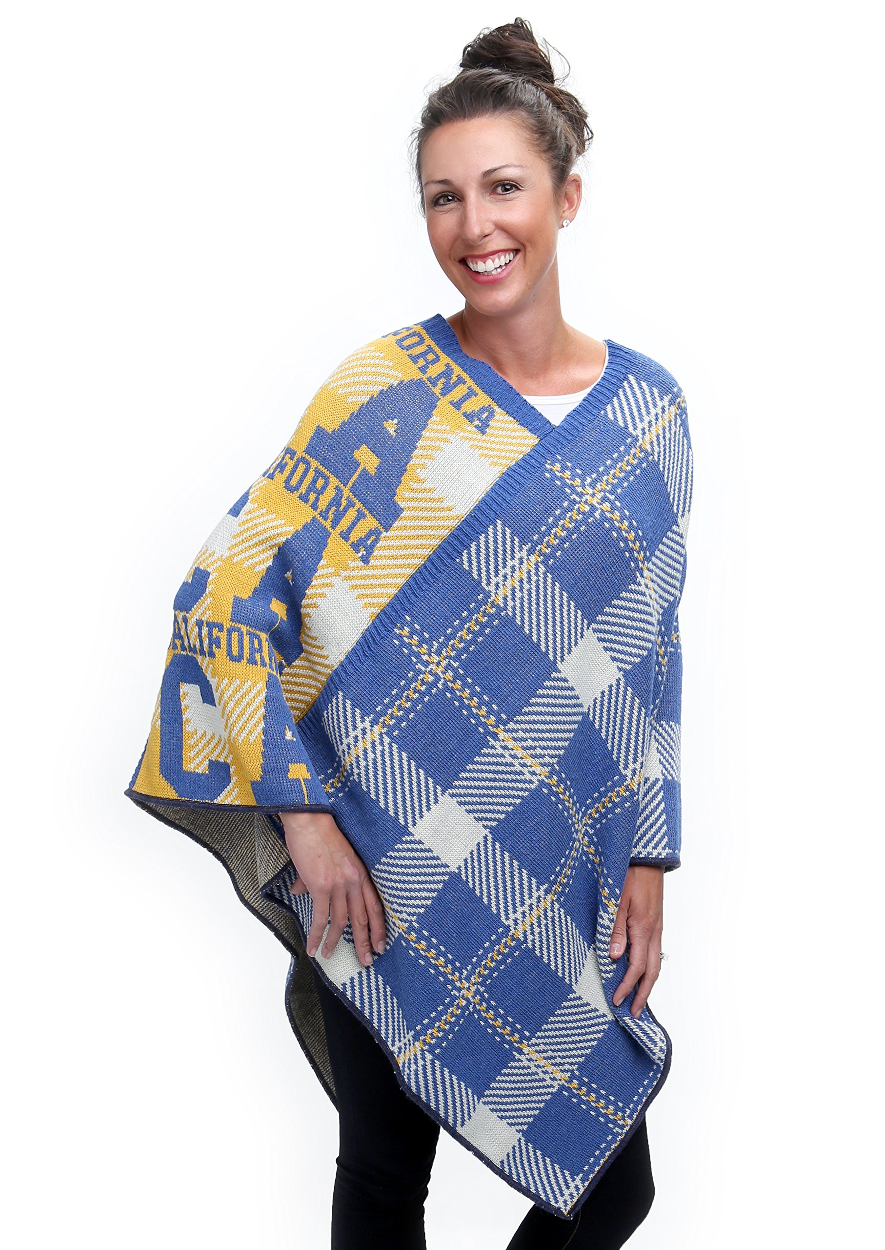 green 3 Women's Recycled Cotton State Knit Ponchos (California)