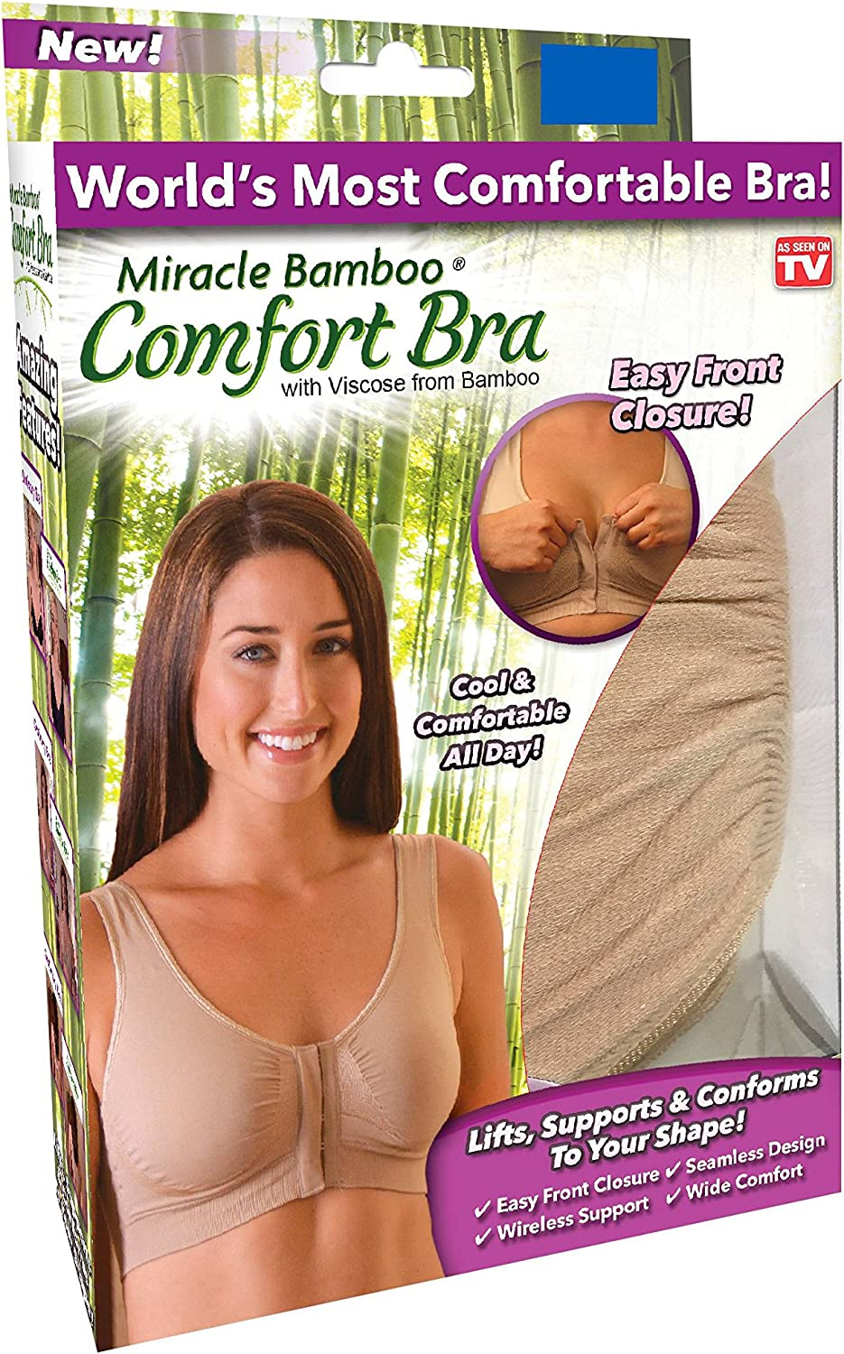 New! Miracle Bamboo Comfort Bra - As Seen On TV - XL