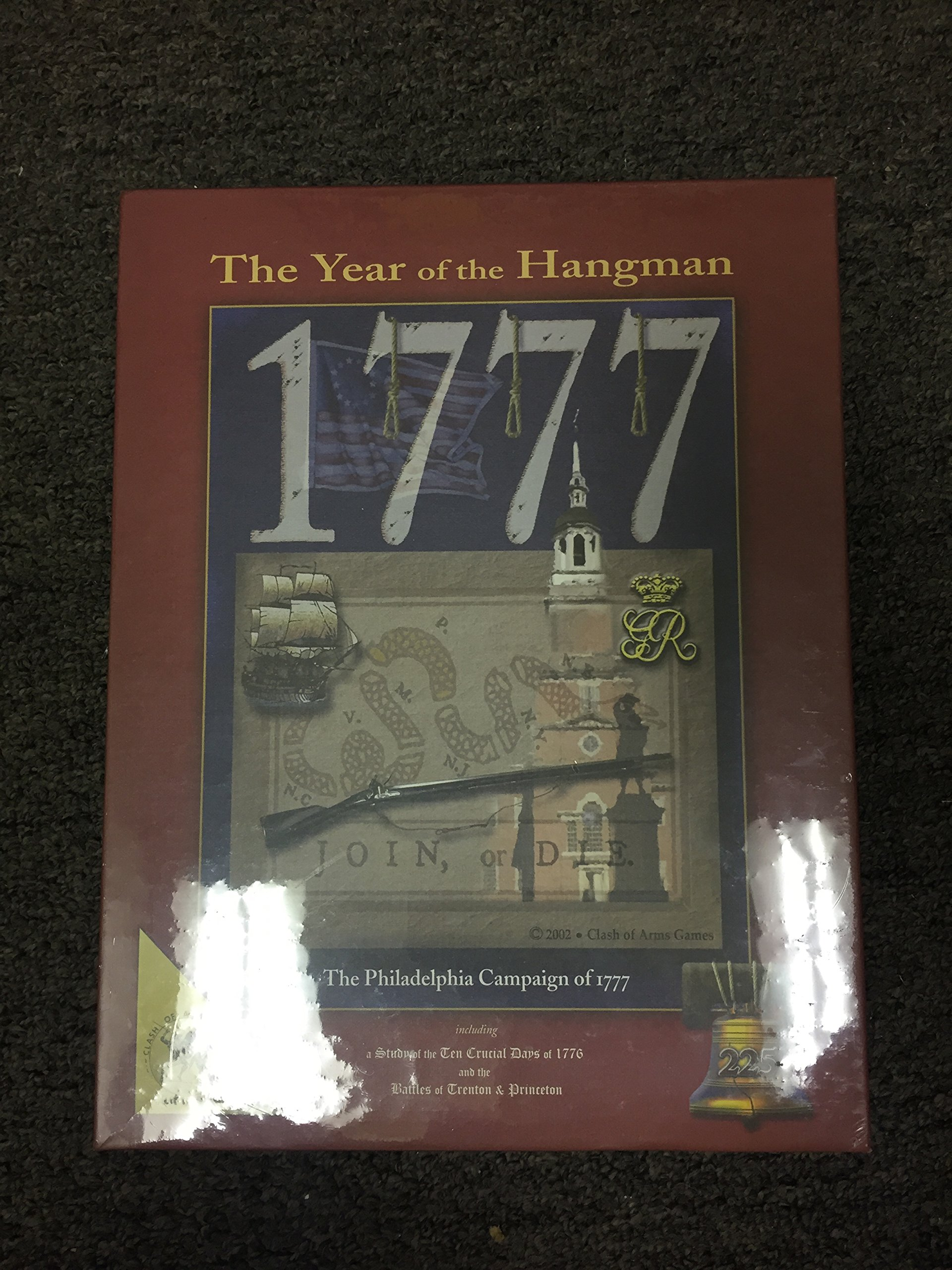 2002 Clash of Arms Games 25th Anniversary ''The Year of Hangman'' 1777 The Philadelphia Campaign of 1777 Game
