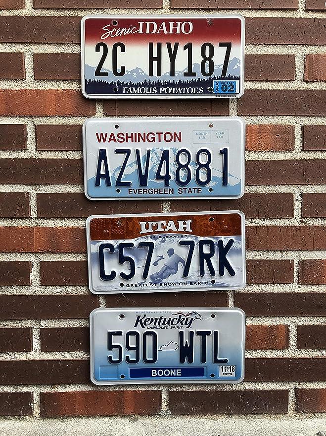 Desconocido Matr/ícula Decorativa Vintage Americana Estados Unidos Original Estado de Idaho Retirada de la Circulaci/ón A/ño 2008