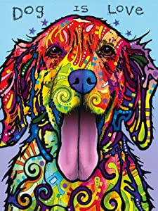 MasterPieces Dean Russo Dog is Love Colorful Dog Large EZ Grip Jigsaw Puzzle, 300-Piece