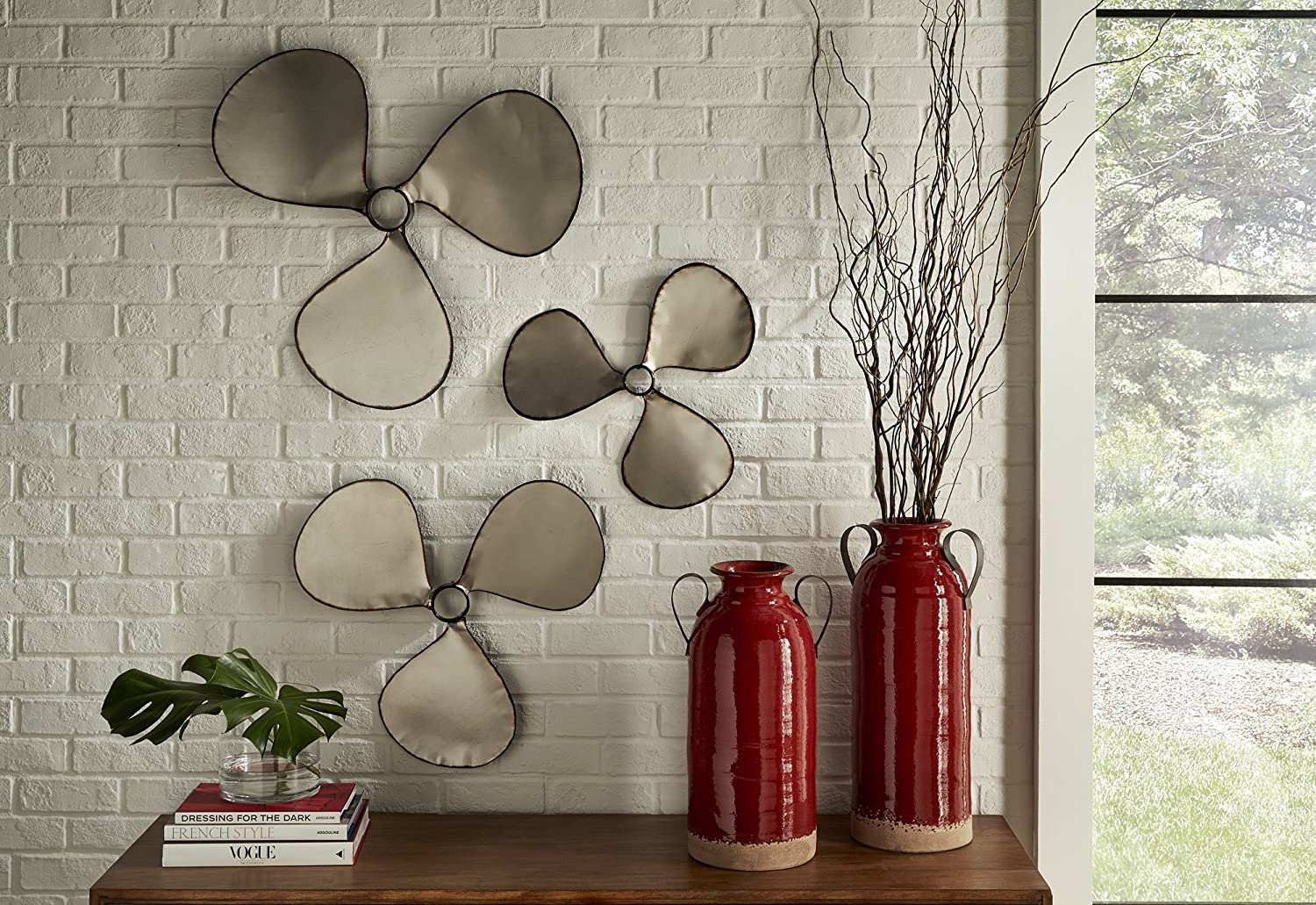 Imax Pelham Propeller Wall Decor, industrial style home decor