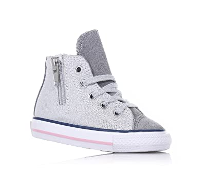 CONVERSE - Silver lace-up sneakers 929995370