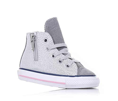 scarpe originali amazon risparmi fantastici CONVERSE 646381C silver/white ct side zip scarpe bambina all ...