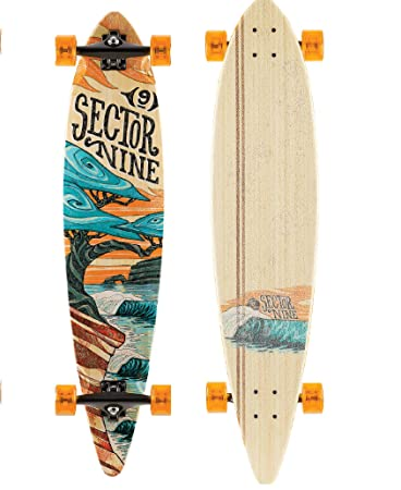 Sector 9 Bonsai Complete 42 Inch Bamboo Top Mount Longboard for Carving and Commuting