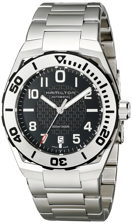 Amazon Com Hamilton Men S H78615135 Khaki Navy Sub Analog