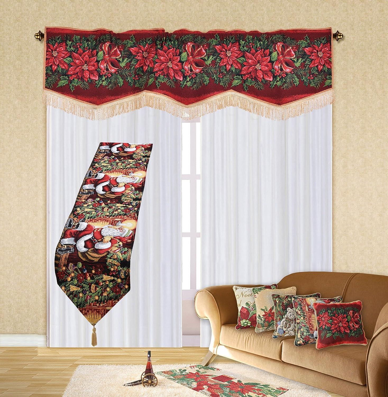 Amazon.com: Violet Linen Decorative Christmas Tapestry Window ...