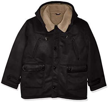 277a5ecf6f7a0 Excelled Men s Big and Tall Faux Shearling Hooded Jacket at Amazon Men s  Clothing store