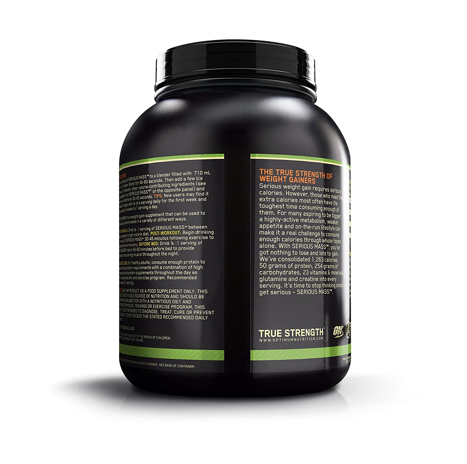 Optimum Nutrition (ON) Serious Mass Weight Gainer Powder - 6 lbs, 2 72 kg  (Chocolate)