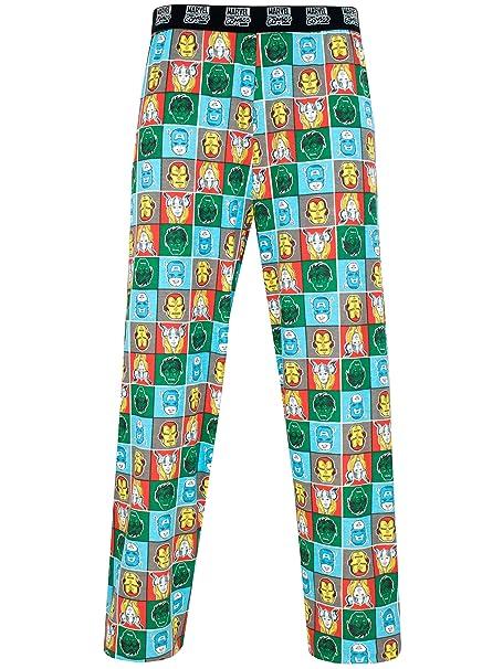 Marvel Pantalones del pijama para Hombre Marvel Comics XX Large