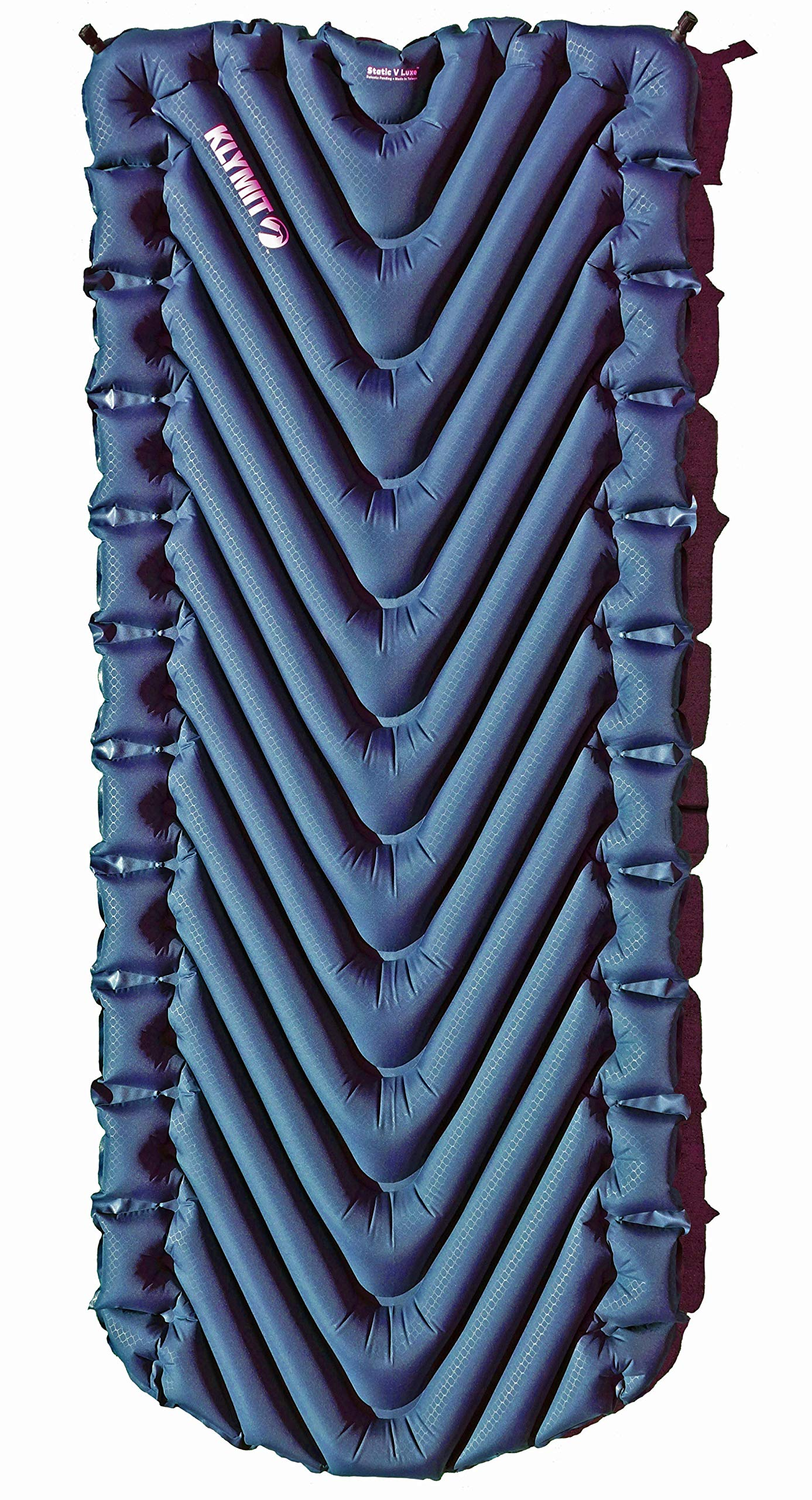 Klymit Static V Luxe Sleeping Pad for Camping, Hiking, and Backpacking (Includes Air Mattress, Stuff Sack, and Patch Kit) (Midnight Blue) by Klymit