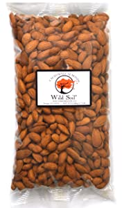 Wild Soil Almonds - Distinct and Superior to Organic, Herbicide Free, Steam Pasteurized, Probiotic, Raw 1.5LB Bag, Emergency/Survival Food