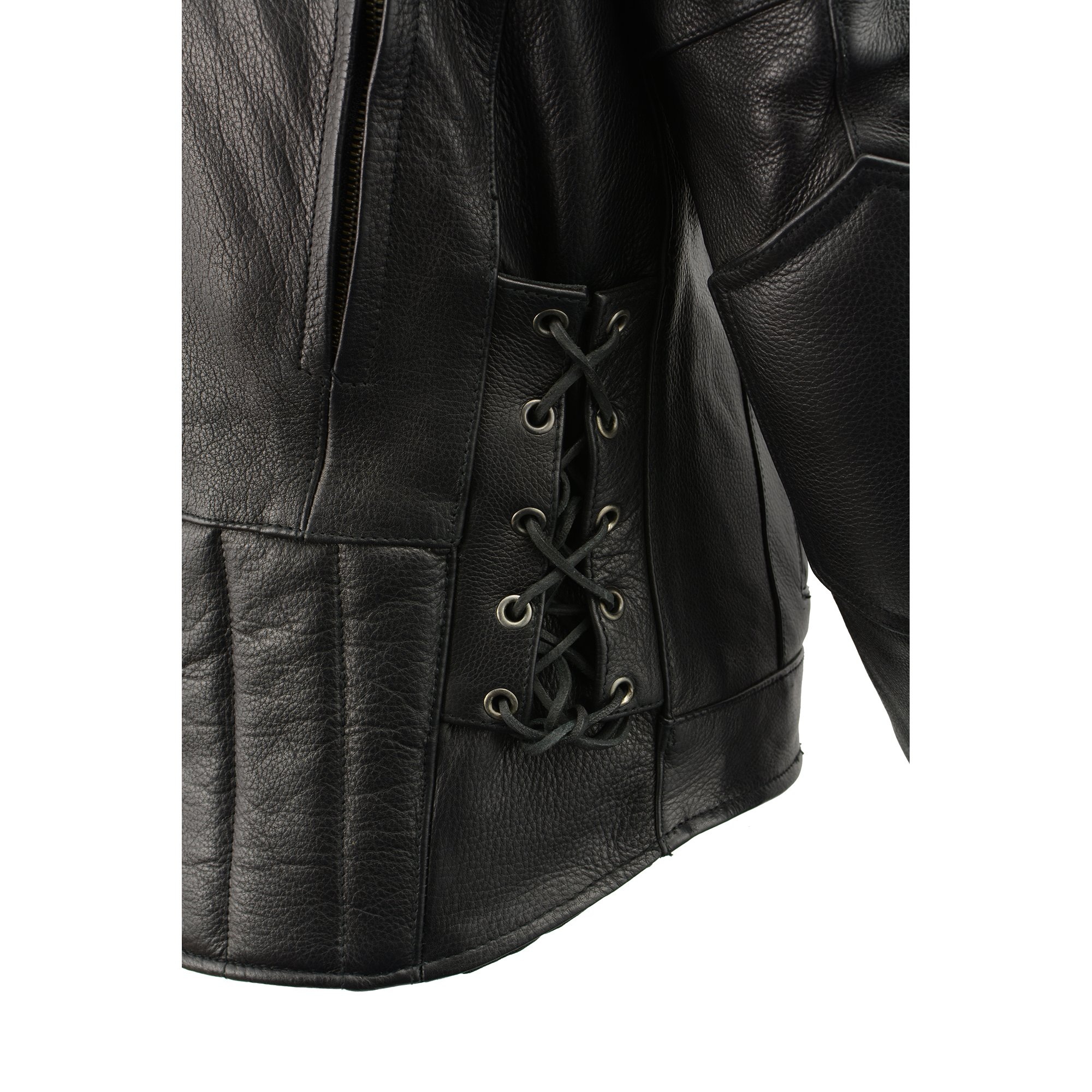 Milwaukee Leather Men's Side Lace Vented Scooter Jacket (Black, 5X-LargeTall) by Milwaukee Leather (Image #12)