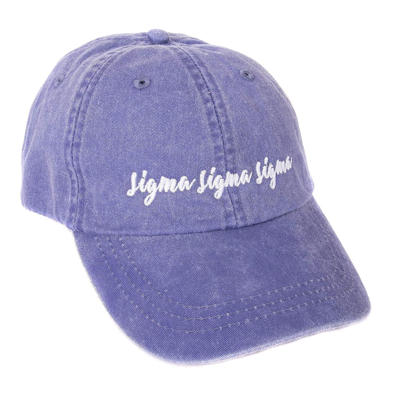 Sigma Sigma Sigma N Sorority Baseball Hat Cap Cursive Name Font tri-Sigma