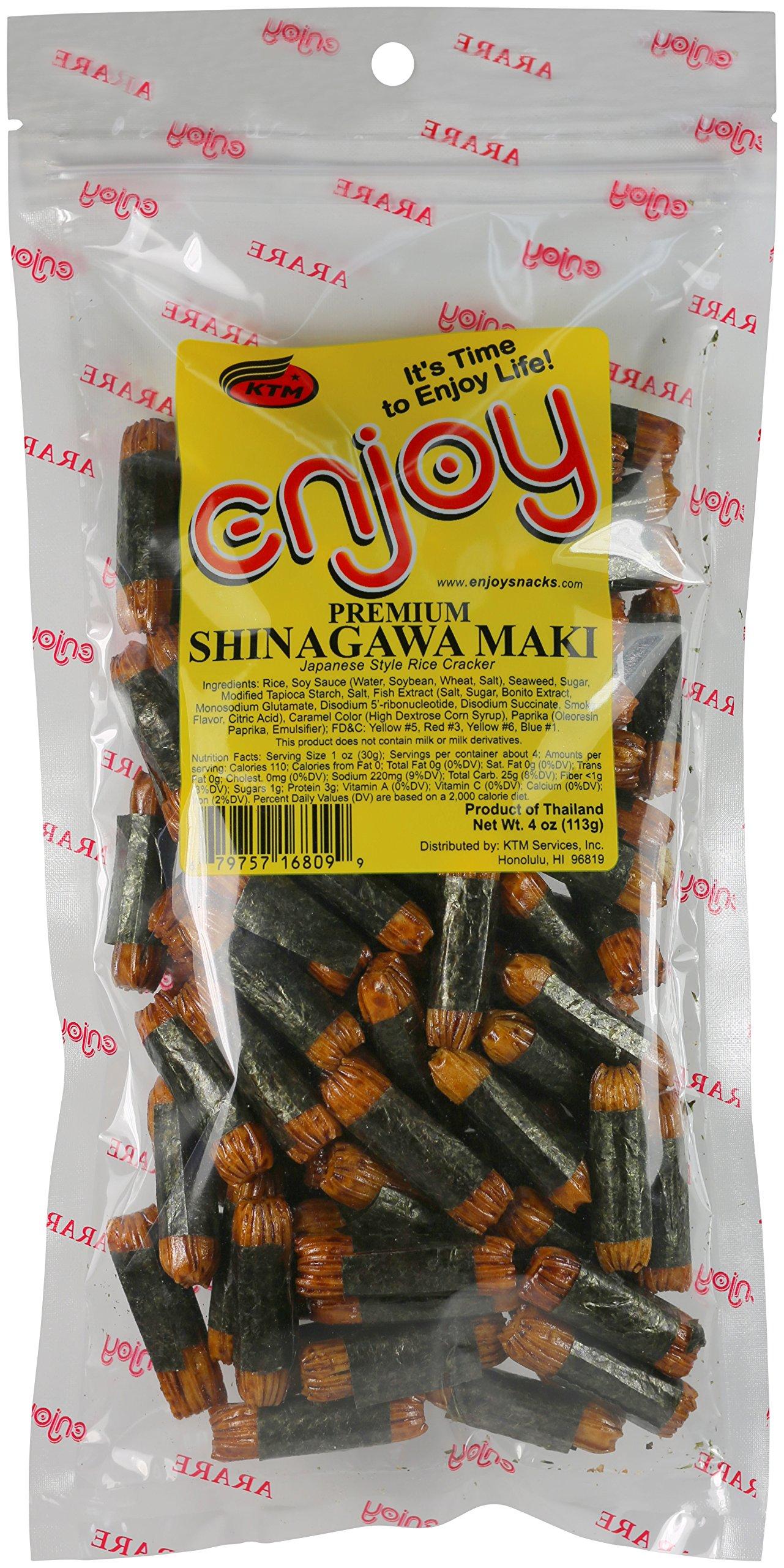Enjoy Shinagawa Maki Arare Rice Cracker, 4 Ounce by Enjoy