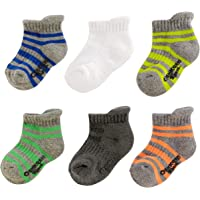 OshKosh B'Gosh - Calcetines de tobillo para niño (6 unidades)