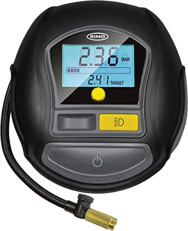 RAC635 Ring 12v Car Tyre Wheel Air Compressor Inflator Pump Digital Preset Gauge