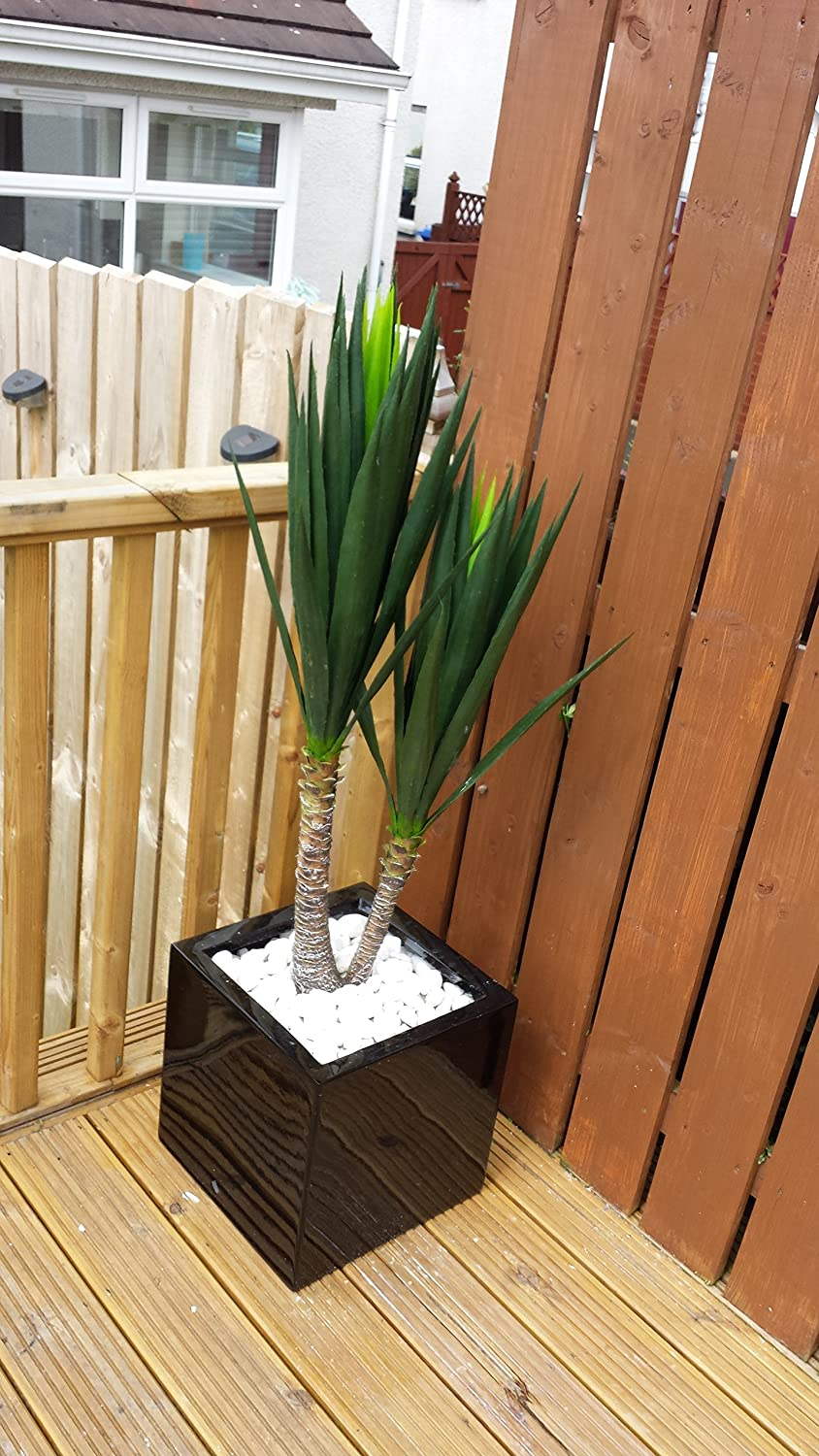 Best Artificial 120cm 4ft Double Yucca Plant Outdoor Indoor Office Conservatory Tropical Garden Tree (1)