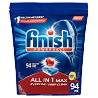 Finish All in 1 Max Dishwasher Tablets - Lemon, 94 Pack