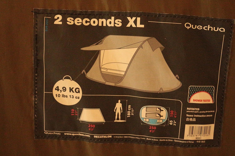 Tienda de campaña para 2 Seconds XL Quechua camping: Amazon.es: Deportes y aire libre