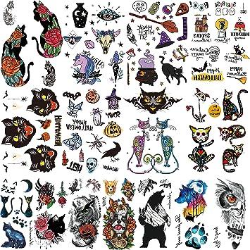 Oottati Impermeable 15 Hojas Tatuaje Temporal Tattoo Halloween ...