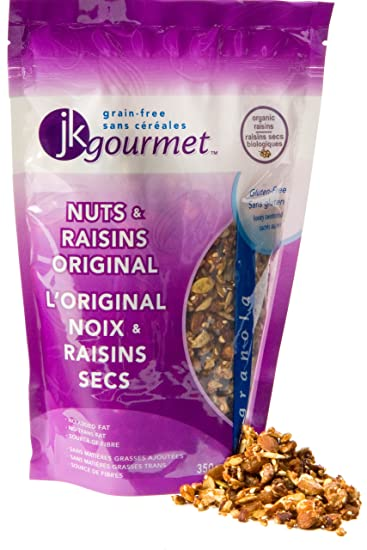JK Gourmet Nuts and Raisins Original Granola, 12 35-Ounce Pouch