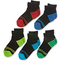 Rio Kids Cotton Blend Active Quarter Crew Socks (5 Pack)
