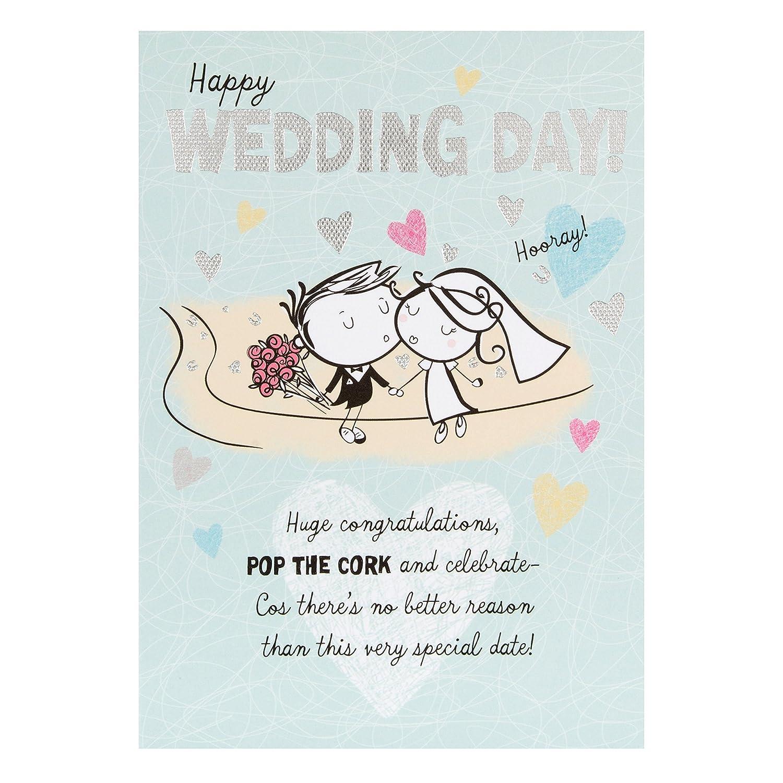 Hallmark Wedding Card 'Love In Your Hearts' - Medium 11156799