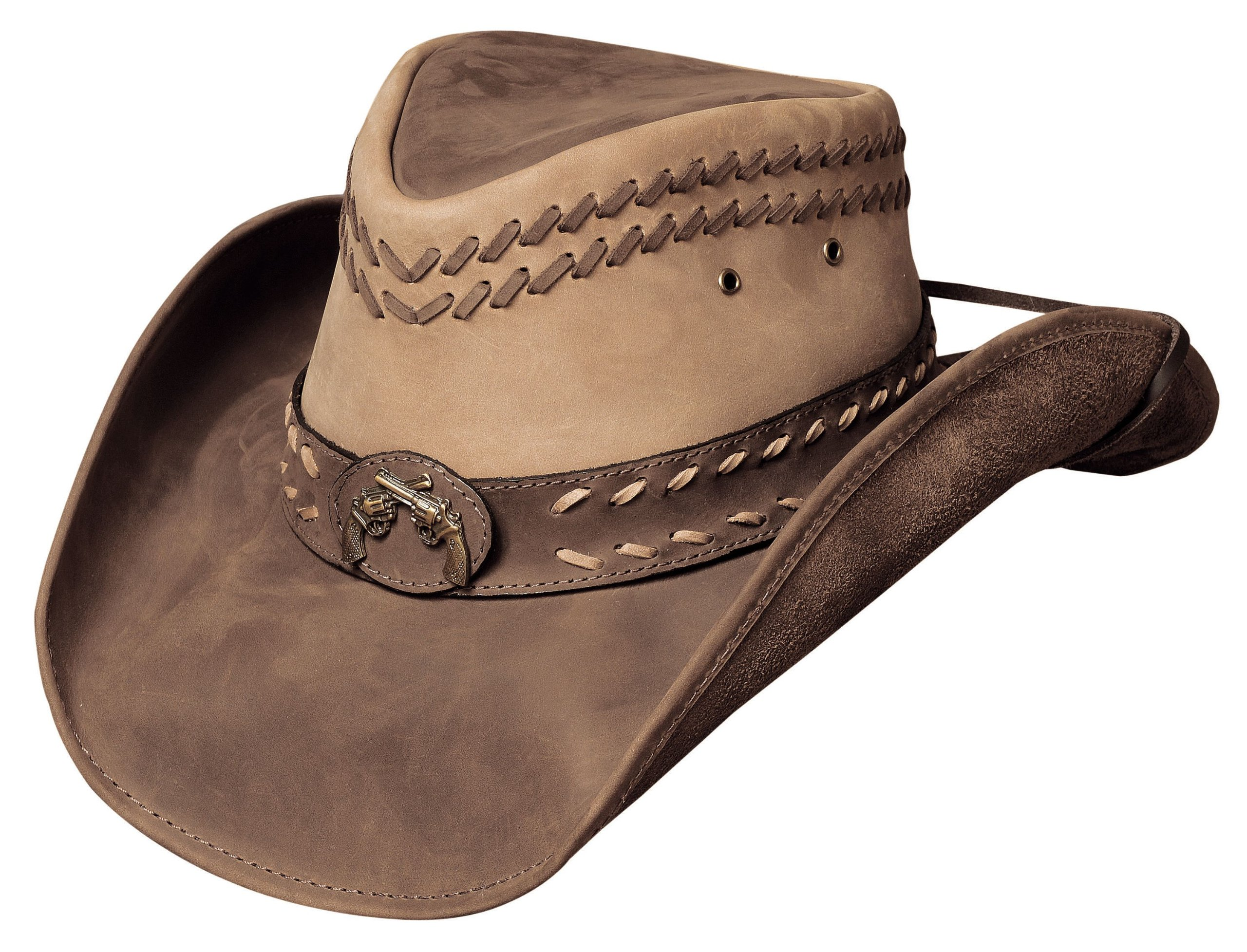 Bullhide Women's Hideout Leather Hat Brown Medium