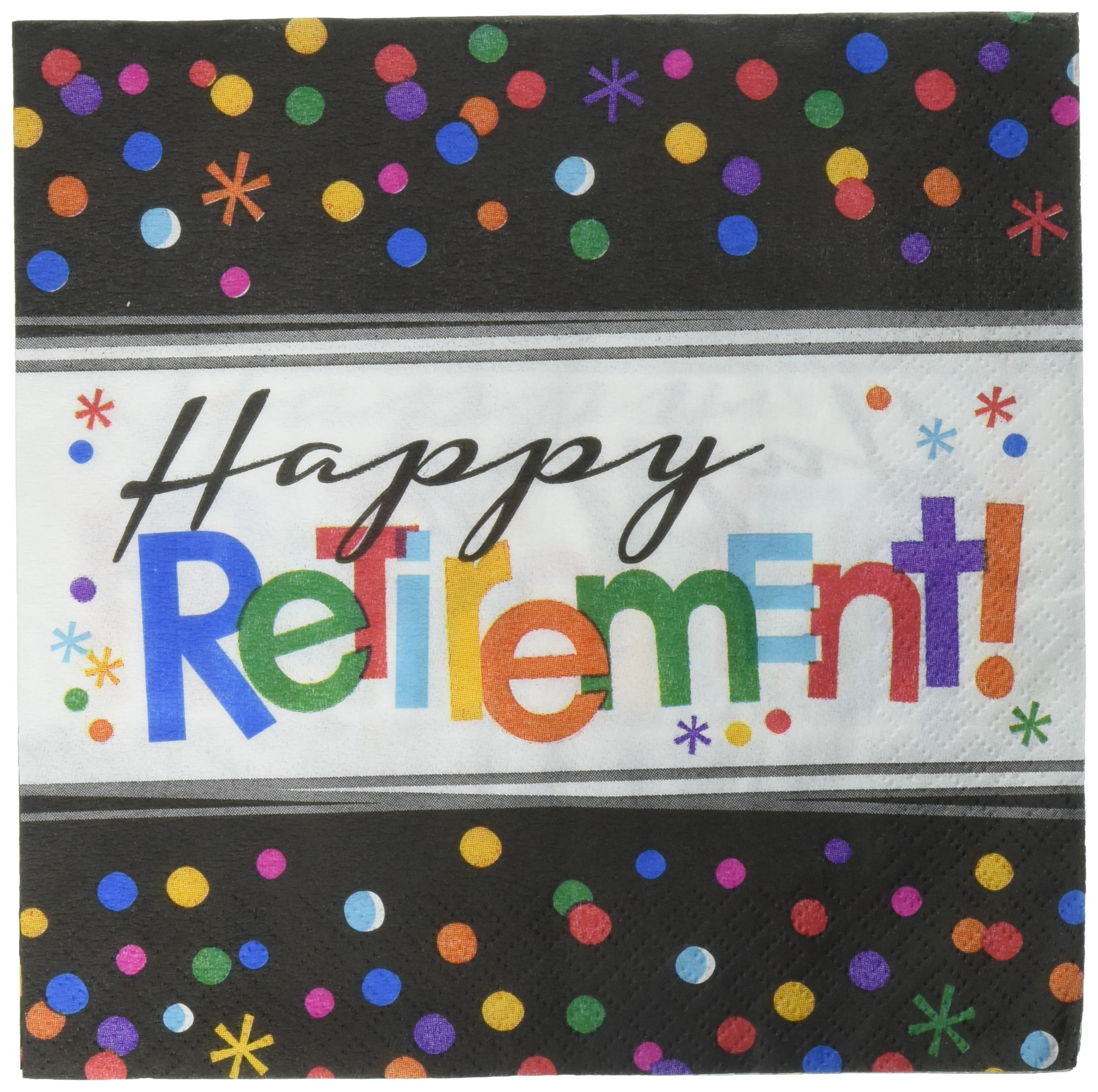 Amscan ''Happy Retirement'' Luncheon Party Napkins, 192 Ct.