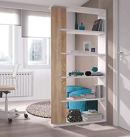 Salone-negozio-online Kit LIBRERIA Alida CM.90X25X180H Parete ...
