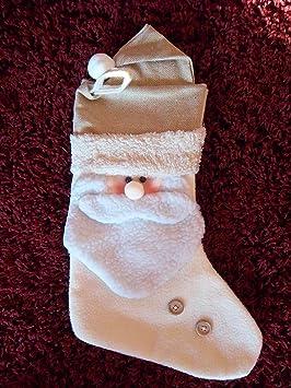 Papá Noel botas Textil - gran presentación, punto, fieltro, tela Teddy, calcetines de Papá Noel, Advent botas, botas de Navidad: Amazon.es: Juguetes y ...