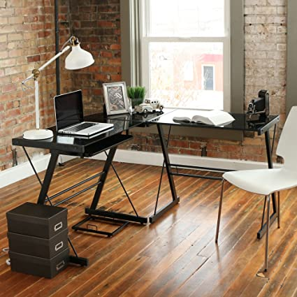 Walker Edison 3 Piece Contemporary Desk Multi Amazon Electronics