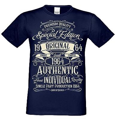 brand new 5858f 98c67 Vintage Retro Herren T-Shirt Kurzarm Special Edition 1964 Farbe  Navy-blau   Amazon.de  Bekleidung
