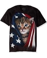 The Mountain Men's Patriotic Kitten Adult T-Shirt