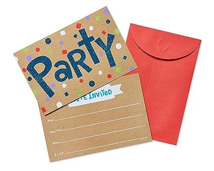 Amazon american greetings 20 count confetti glitter fun party american greetings 20 count confetti glitter fun party invite postcards multicolor m4hsunfo