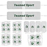 26 elettrodi TESMED TOP EQUIPMENT, la gamma migliore per ottenere i migliori risultati : 16 elettrodi 40x40 + 4 elettrodi 50x50 + 4 elettrodi 50x100 + 2 fasce giganti Tesmed Sport