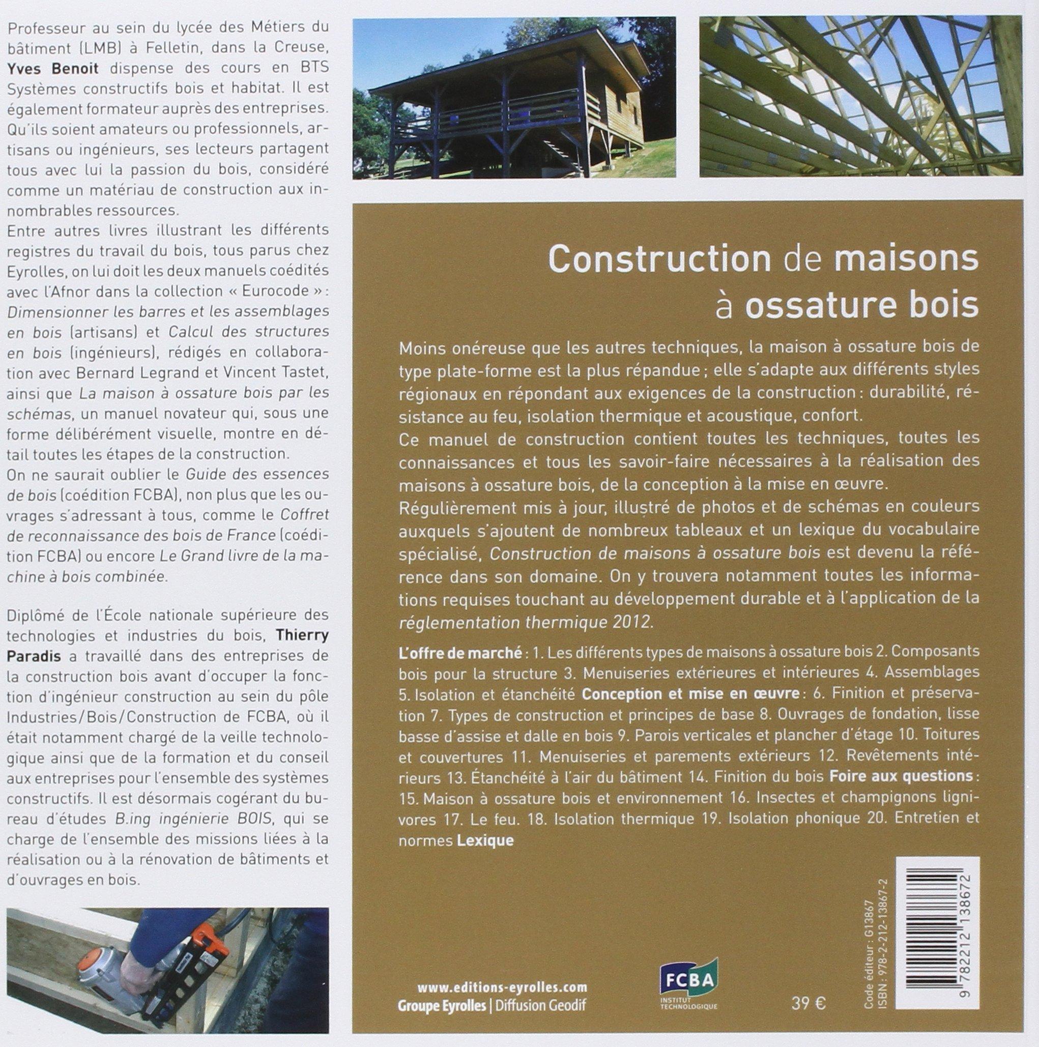 Livre technique construction maison ossature bois for Construction ossature bois