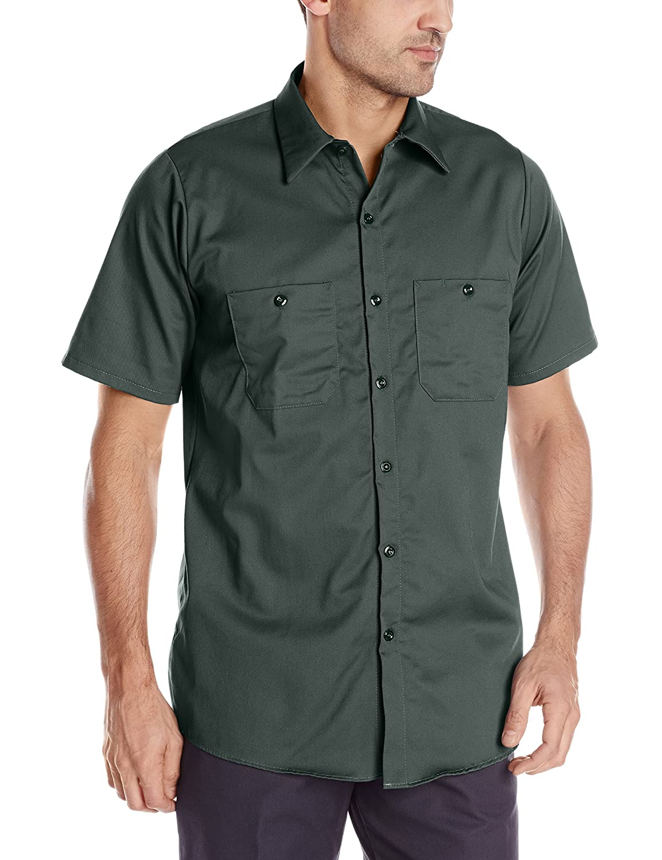 Red Kap Men 's Enhanced Visibility Cotton Workシャツ B007GBVHP8 M|スプルースグリーン スプルースグリーン M