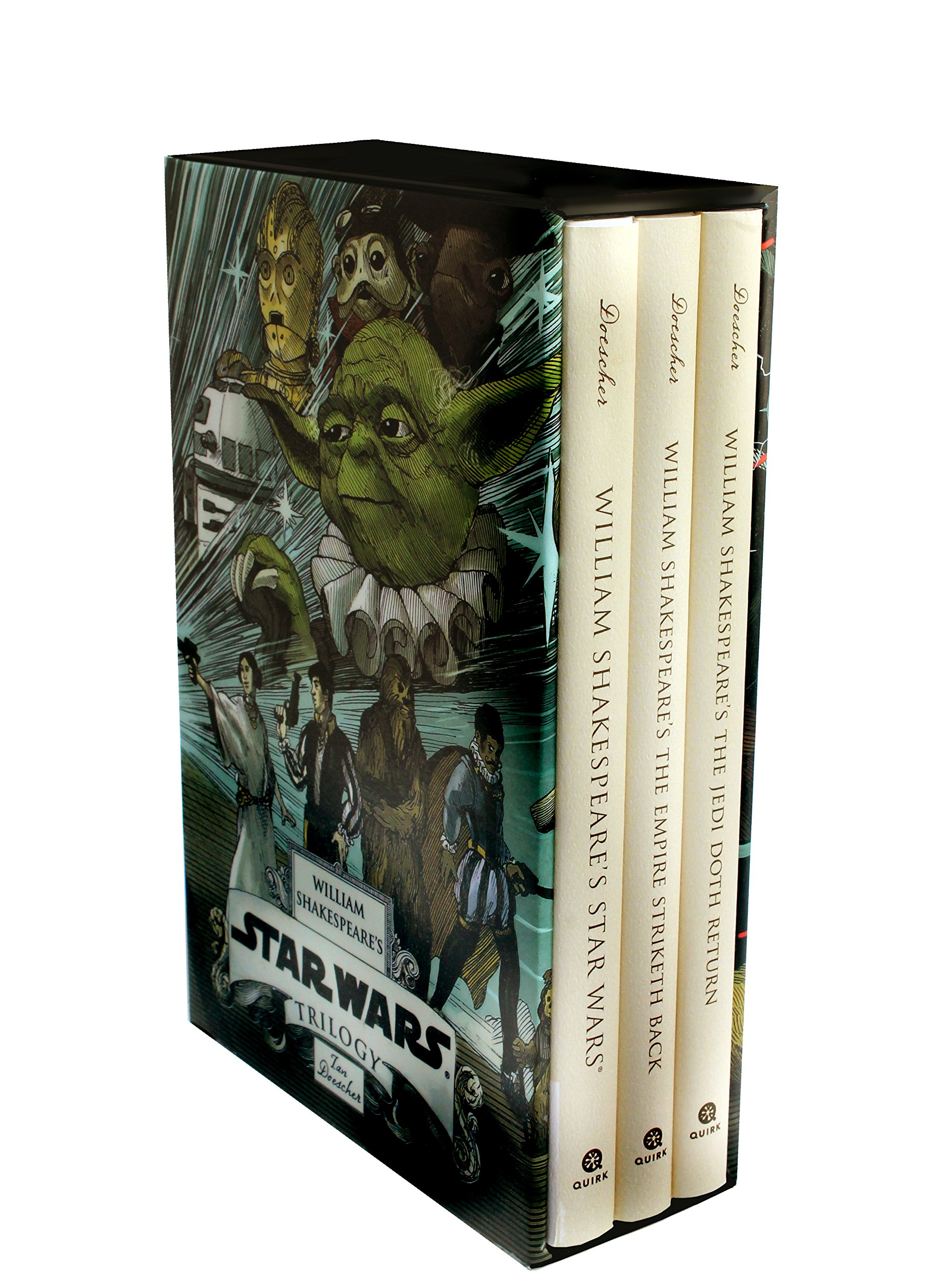 amazon com william shakespeare s star wars trilogy the royal amazon com william shakespeare s star wars trilogy the royal imperial boxed set includes verily a new hope the empire striketh back the jedi doth